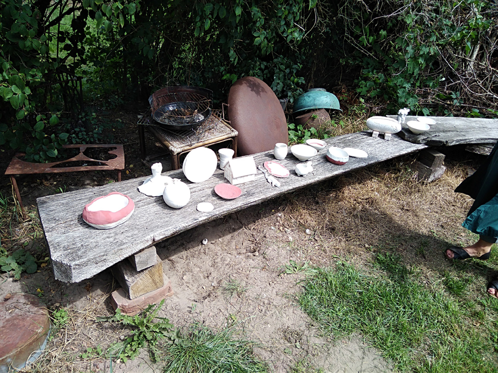 Raku Workshop Atelier im Grünen in der Prignitz, Brandenburg
